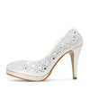 Evie Sparkle Detail Court Shoes - Ivory