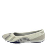 Arden Bow Detail Flat Ballet Slip On Leather Shoes - White