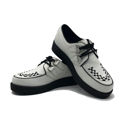 Rebel White Leather Creepers