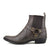 Nash Leather Ankle Cowboy Ring Boots - Brown