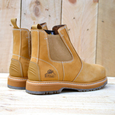 Groundwork Leather Elasticated Dealer Boots - Tan