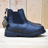 Groundwork Leather Elaticated Dealer Safety Boots - Black