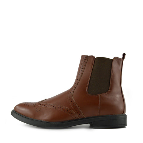 mens chelsea boots brown