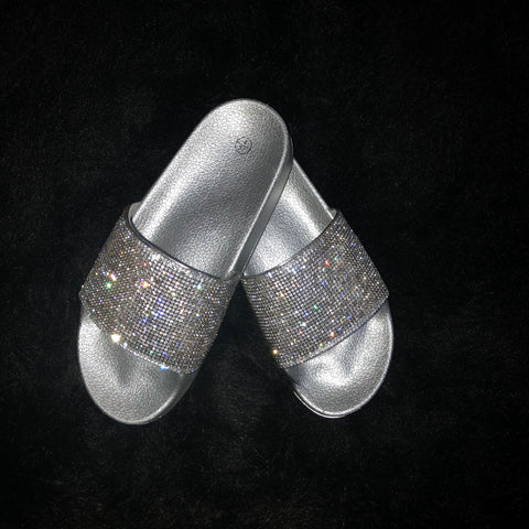 Sparkle Glitter Sliders - Black| Silver| Rose Gold