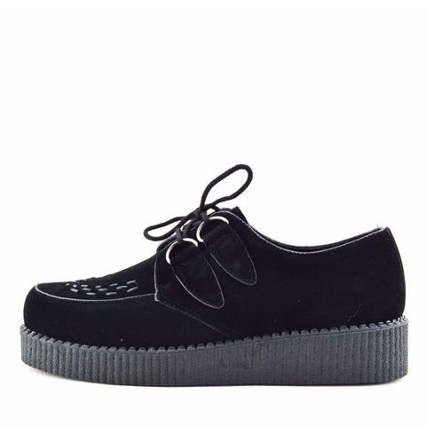 Mens Rebel Black Suede Creepers