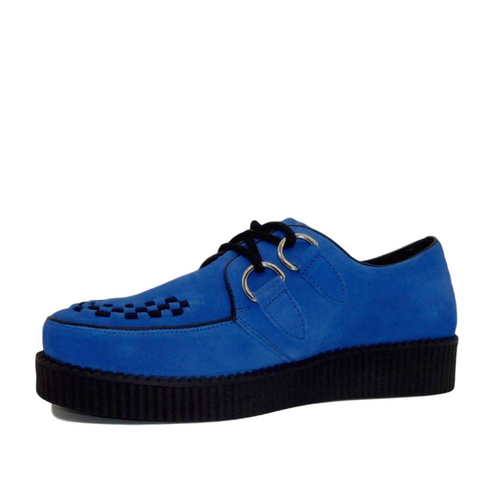 Mens Rebel Blue Suede Creepers