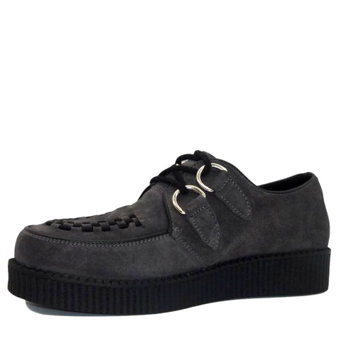 Mens Rebel Grey Suede Creepers