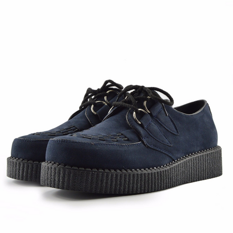 Mens Rebel Navy Suede Creepers