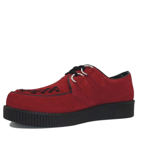 Mens Rebel Red Suede Creepers