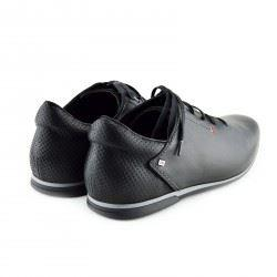 mens black smart casual trainers