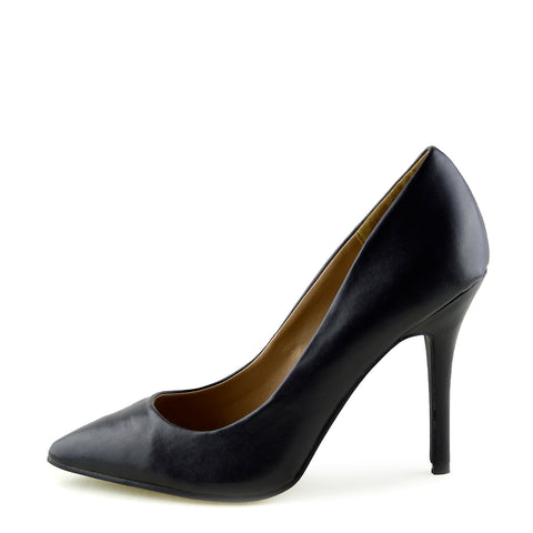 Pointed Stiletto Smart Court Shoes - Black Matte