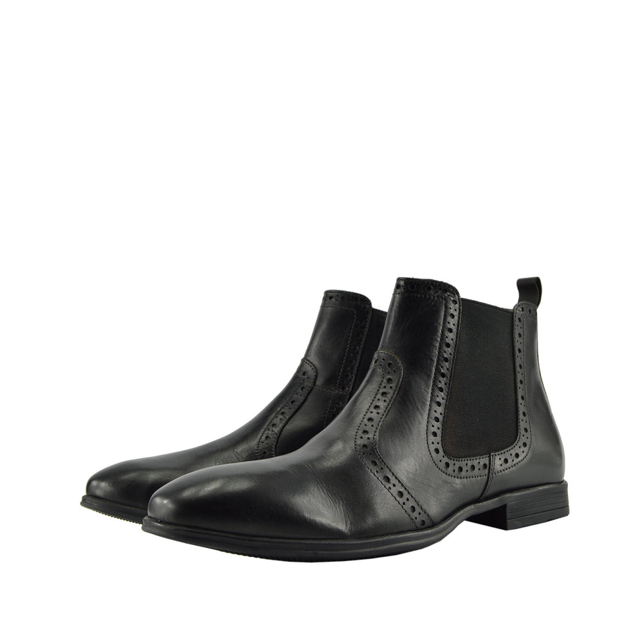 Empire Leather Chelsea Boots - Black