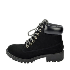 Brecon Chunky Sole Combat Boots - Black