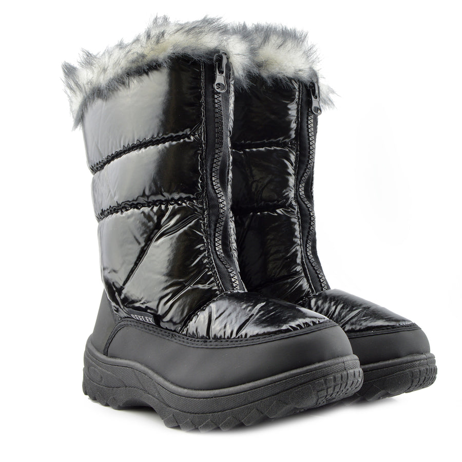 Aspen Short Snow Grip Sole Lined Boots - Black F4334