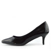 "Ladies Patent Pointed Kitten heel Shoes with 2"" Heel,ladies shoes,low heel shoes - Black Patent"