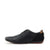 Vale leather Smart lace Up Trainer Shoes - Black