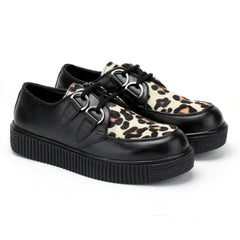 Women's Riot Leopard Leather Creepers