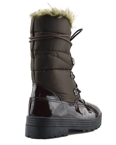 Aspen Short Snow Grip Sole Lined Boots - Brown