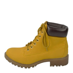 Brecon Chunky Sole Combat Boots - Honey