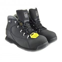 Groundwork Leather Comfort Ankle Safety Boots - Black