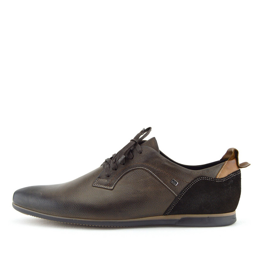 Vale leather Smart lace Up Trainer