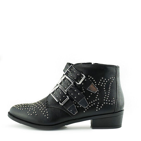 Jett Glam Rock Studded Ankle Boots