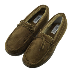 Winter Moccasin Faux Sheepskin Slippers - Brown