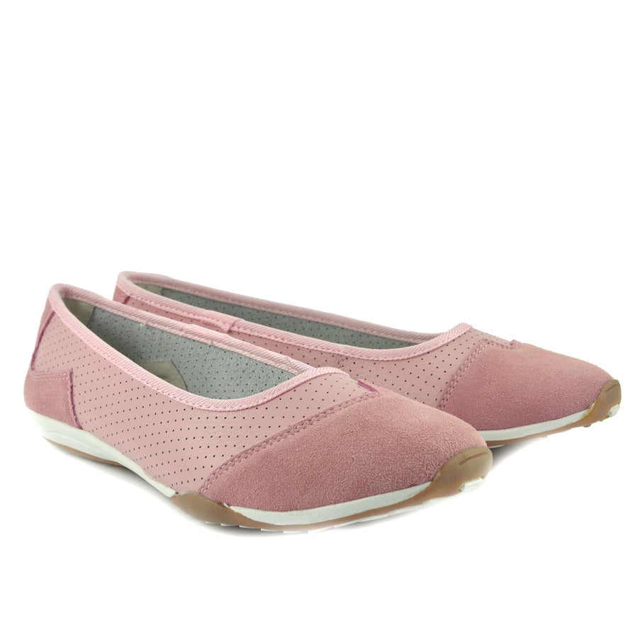 Womens Ballerina Ballet Dolly Pumps Ladies Flat Black Loafers Shoes Size New - Mid Pink F80261