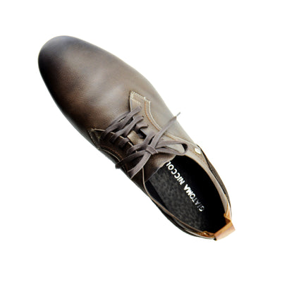 Vale leather Smart lace Up Trainer Shoes - Brown