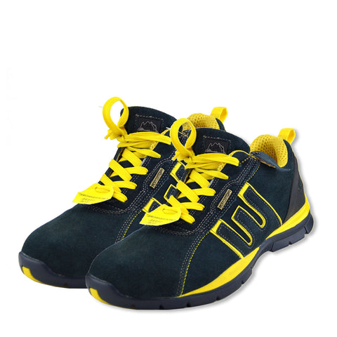 Groundwork Mens Gents Lightweight Trainer Work Safety Boots Steel Toe - Navy
