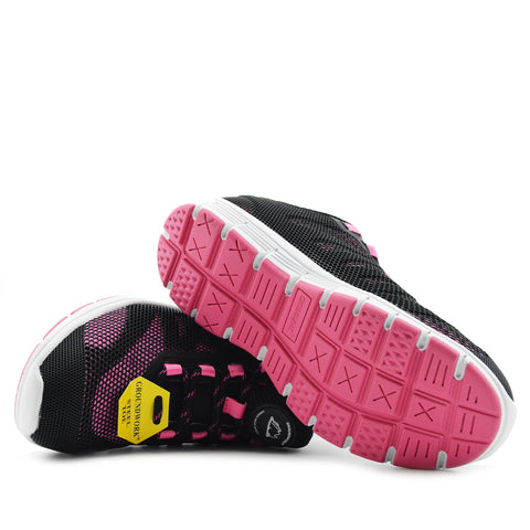 Groundwork Lightweight Steel Toe Safety Trainers - Black Pink