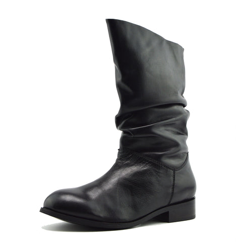 Verity Slouch Mid Calf riding boots -Black