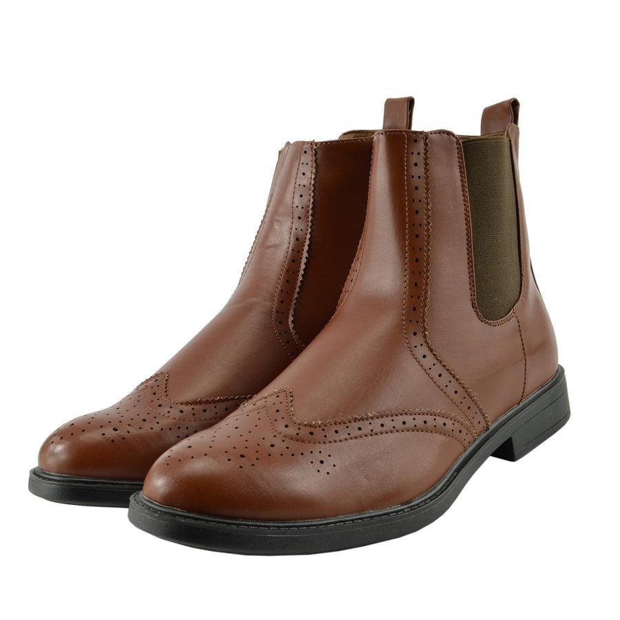 Dudley Leather Ankle Chelsea Dealer Boots - Coffee