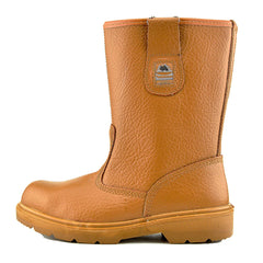 Mens Groundwork Long Pull on Dealer Boots - Honey