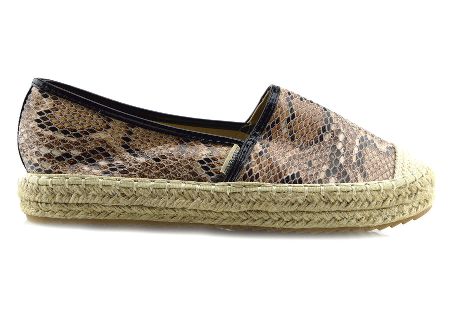 Ladies Flat Sandals Espadrilles Summer Holiday Shoes - Snakes