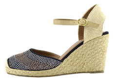 espadrilles ladies black closed toe