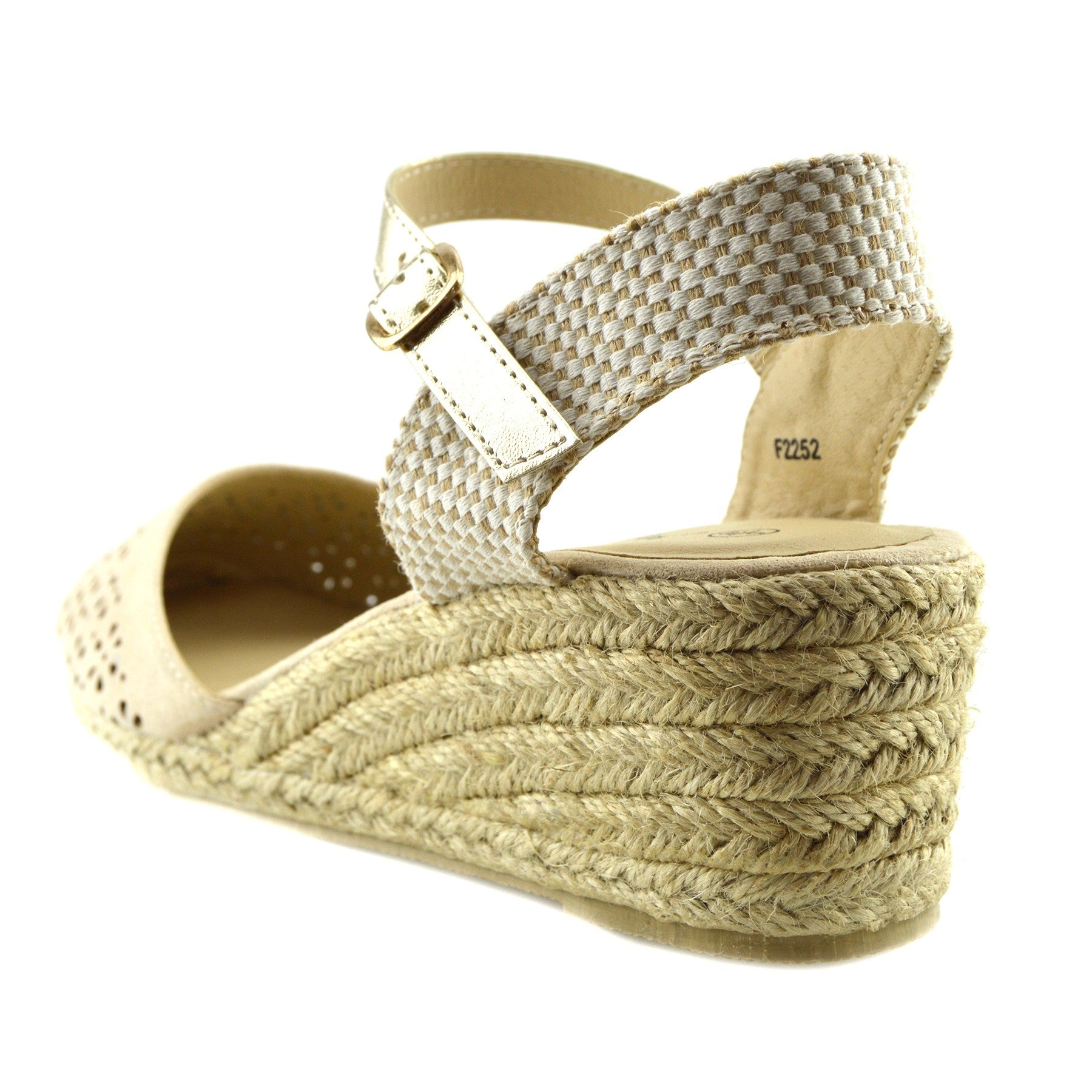 b5e3a9e214ef Womens Black Wedge Heels Comfortable Slingback Summer Sandals - Beige