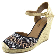 espadrilles ladies flat black