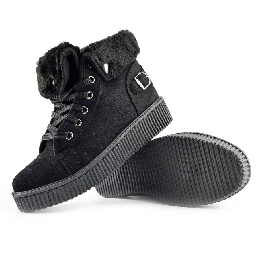 Avril Skater Creeper Trainers - Black