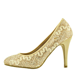 Carter All Over Glitter Court Shoes - Gold