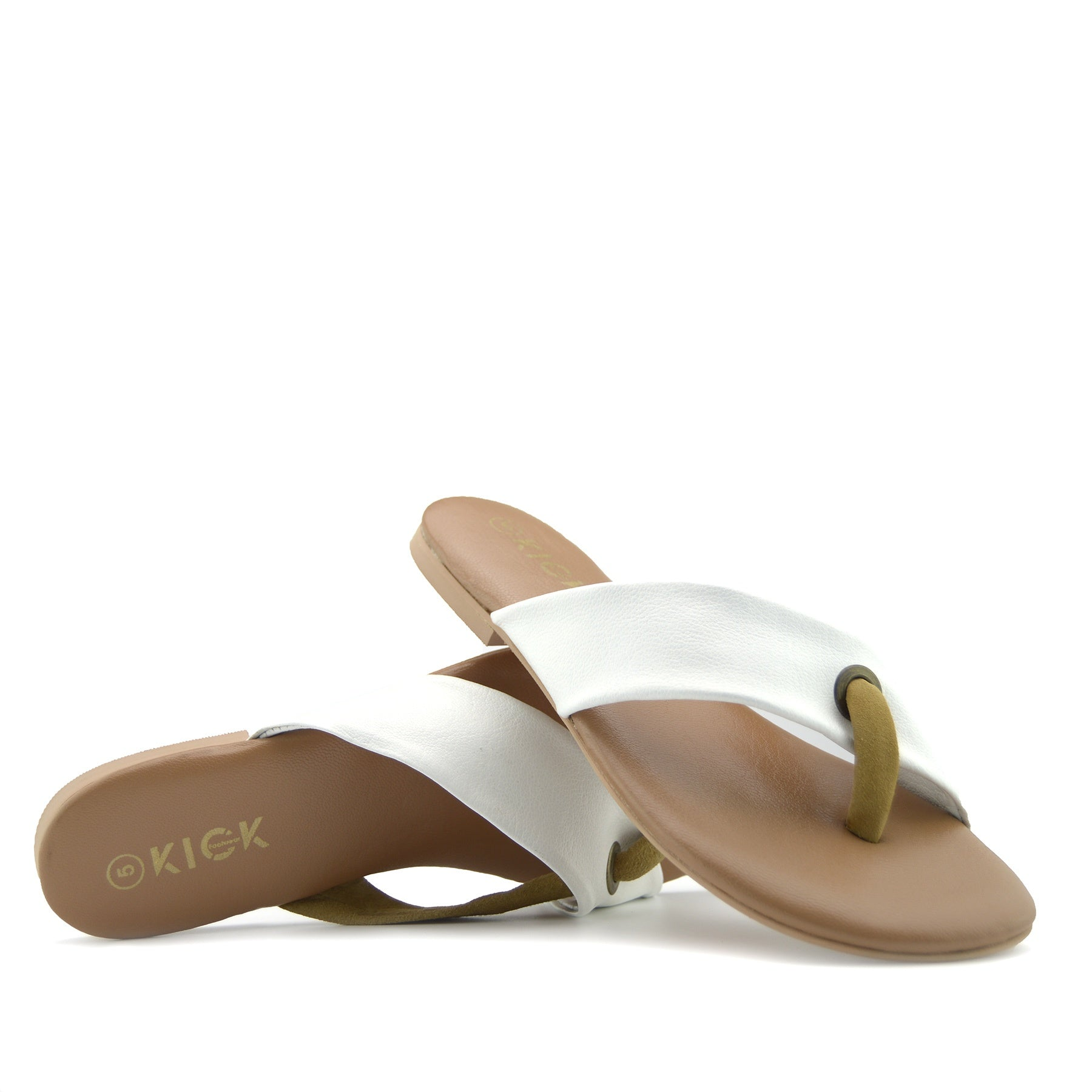 1f97c66afae Womens Fashion Summer Beach Flip Flops Sandals Natural Leather Shoes - -  Kickfootwear