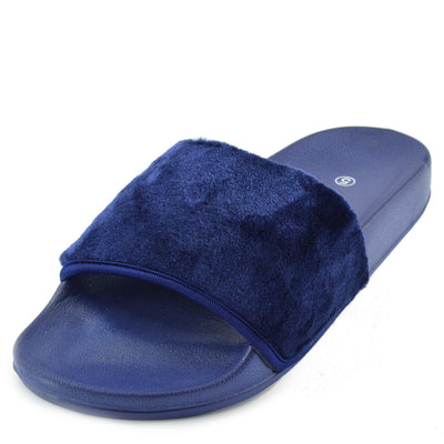 flip flops for women blue