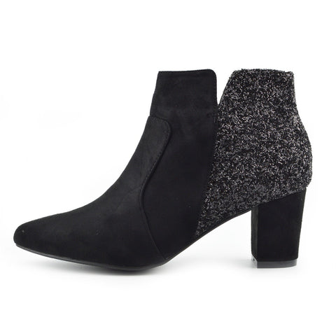 Rebel Decorative Chelsea Ankle Boots - Black - F50690
