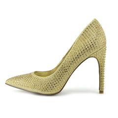Pointed Sparkle Party Heels - Gold PO0440