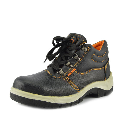 Rocklander Leather Trim Detail Safety Boots