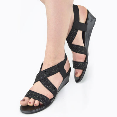 wedge sandals women wide fit