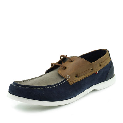 Mason Leather Classic 2 Eye Boat Shoes - Multi