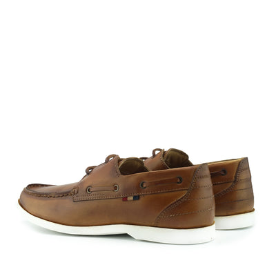 Mason Leather Classic 2 Eye Boat Shoes- Tan