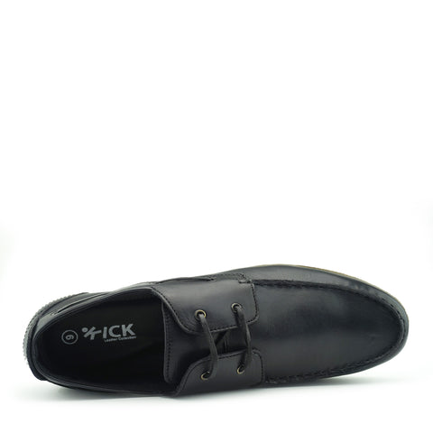 mens boat shoes black