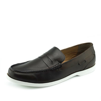 Smith Leather Classic Flat Loafers - Brown